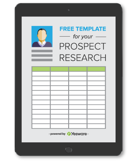 Free Template For Your Prospect Research Cover